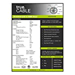 trueCABLE Cat6 Shielded Riser (CMR), 1000ft, Blue, 23AWG Solid Bare Copper, 550MHz, ETL Listed, Overall Foil Shield (FTP), Bulk Ethernet Cable 14 HIGH PERFORMANCE NETWORK CABLE. This riser rated cat 6 lan cable is 23 AWG with 4 pairs (8C). The overall aluminum (AL) foil shield helps eliminate cross-talk and outside interference. Suitable for Fast, Gigabit, and 10-Gigabit Ethernet. Supports bandwidth of up to 550 MHz. HASSLE FREE PACKAGING. 1000 feet (305 meters) of our trueCABLE product has been packaged in a tangle free, easy pull box so you don't have to worry about getting behind on your next job. 100% SOLID BARE COPPER CONDUCTORS. Pure bare copper produces a stronger signal along with better conductivity and flexibility when compared to copper clad aluminum (CCA).