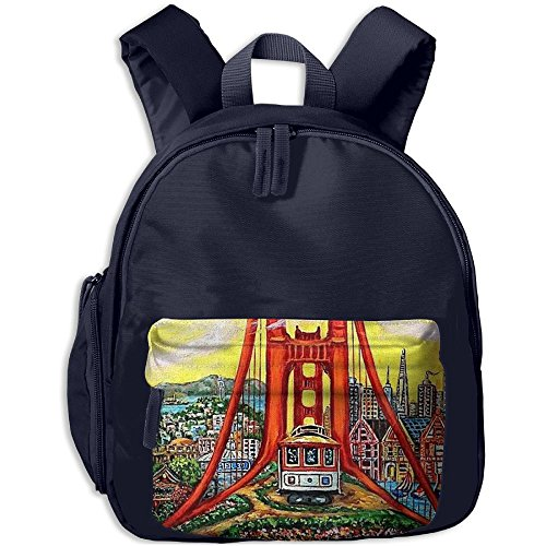 fan products of Golden Gate Bridge Small Personalized Printing Shoulders Kid' Bag For Children School Kindergarten Backpacks 12.5