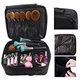 Travelmall Professional MakeUp Train Case Portable Cosmetic Bag Beauty Make Up Artist Organizer Compact size With Adjustable Dividers