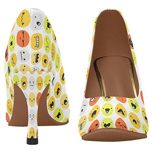 Zapatos De La Bomba Del Vestido Del Alto Talón De La Moda Clásica De Interestprint Para Mujer Multi 9