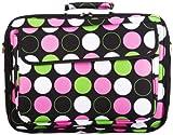 Retro Polka Dot 15 Inch Laptop Bag, Large Dots, Black and Multicolor