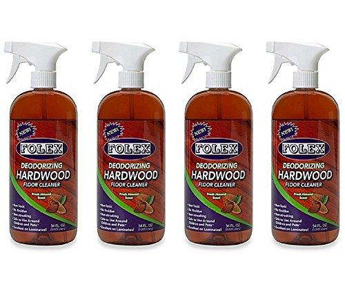 Folex Professional 34-Ounce Deodorizing Hardwood Floor Cleaner (Pack of 4) by Folex