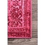 nuLOOM Reiko Vintage Persian Area Rug, 8' x 10', Pink
