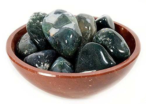 Colorful Green White Moss Agate Cabochon Pebbles Natural Crystal Chalcedony Mineral Stone Specimens - Africa (5PCS)