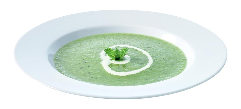LSA International DI19 Dine Soup//Pasta Plate Rimmed /Ø25cm x 4