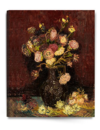 DecorArts - Vase With Asters And Phlox 1886, Vincent Van Gogh Art Reproduction. Giclee Canvas Prints Wall Art for Home Decor (Famous Artist Painting)