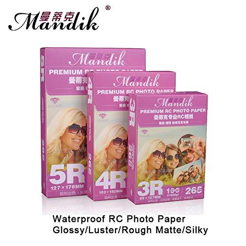 Loune Week 3R 4R 5R 100 Sheets 260G Glossy Luster Rough Matte Woves Waterproof Inkjet Printer Paper