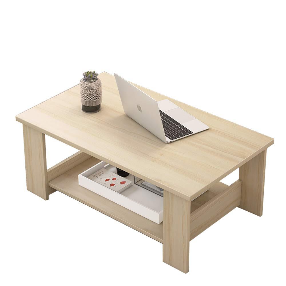 WBBZD Couchtisch, Ahorn Farbe einfachen modernen Wohnzimmer Möbel Lagerung einfachen Couchtisch Doppel hölzernen kleinen Couchtisch (größe : L)