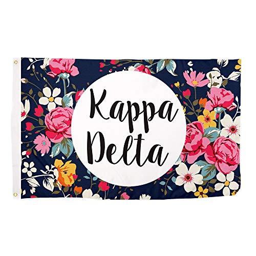 Kappa Delta Sorority Floral Pattern Flag Banner Greek Sign Decor KD