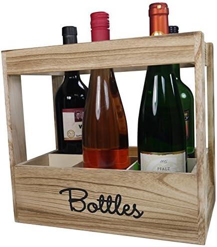 khevga cajón-estantería para 6 botellas de vino – Botella caja de ...