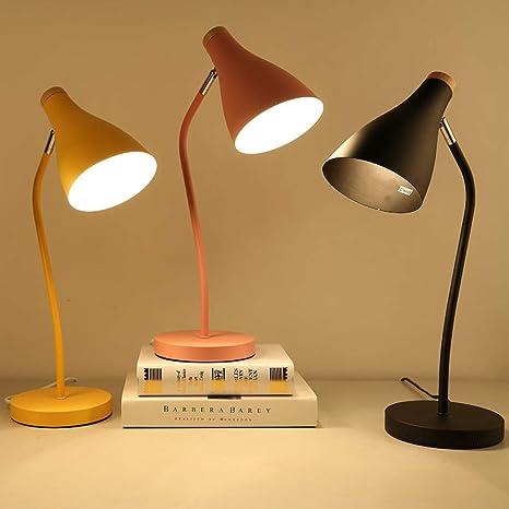 Lámpara de mesa simple lámpara de mesa de hierro forjado ...