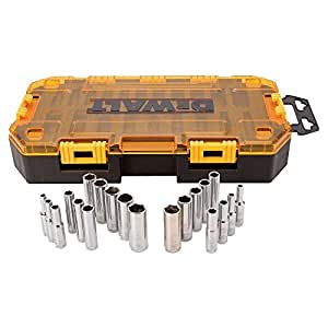 DEWALT DWMT73811  Tool Kit 1/4'' Drive Deep Socket Set, 20 Piece