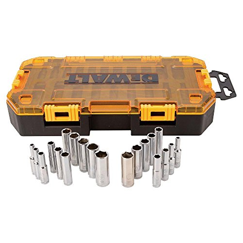 (DEWALT Deep Socket Set, 20-Piece, 1/4