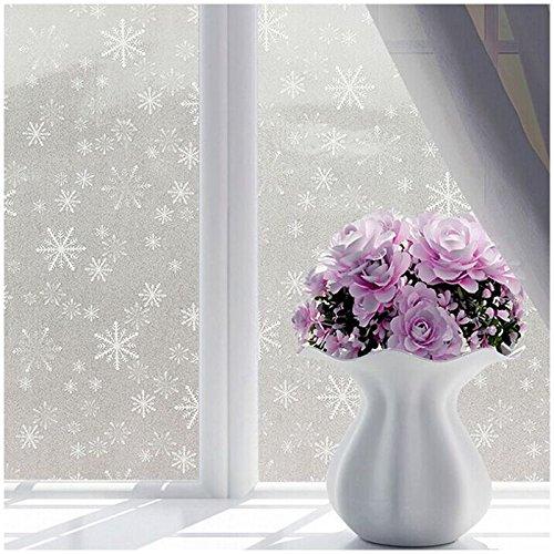 TOOGOO ( R )ホワイトつや消しウィンドウフィルムFrostエッチングガラスStickyバック45 cm X 2 M Small Snowflakes B077P7ZRBW