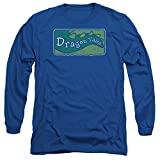 Dragon Tales Animated PBS Series Show Logo Distressed Adult Long Sleeve T-Shirt
