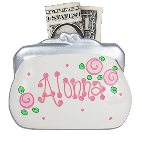 Personalized Ceramic Purse Coin - Bank Purse Mini