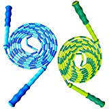 MyLifeUNIT Double Dutch Jump Rope for Kids, 10 Feet Skipping Rope with Plastic Segmentation (Pack of 2)