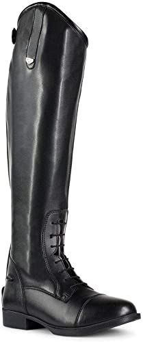 Durable Black Tall Equestrian Boots for Horse Riding [Horze] Picture