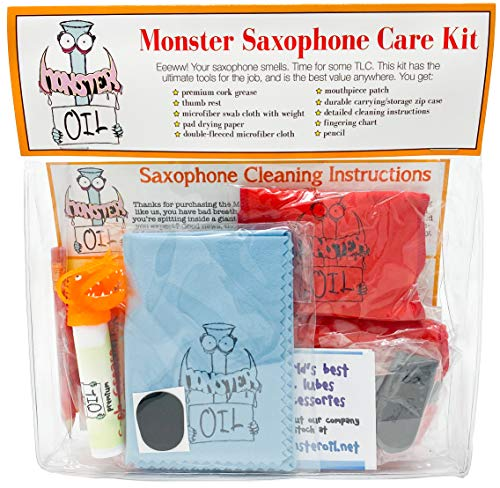 Monster Saxophone Care and Cleaning Kit