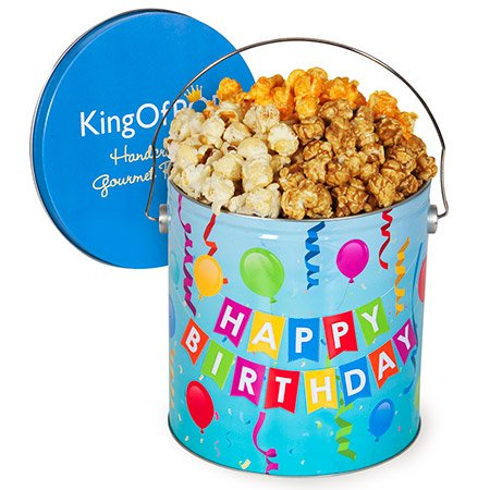 Popcorn Birthday Tin (Happy Birthday Popcorn Tin (People's Choice Mix, 1 Gallon))