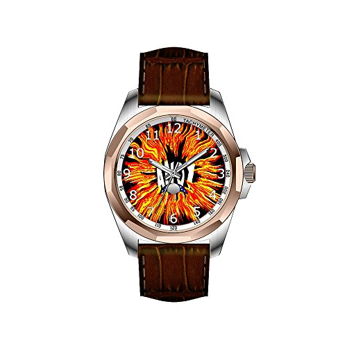 AIMS Christmas gift Mens gold Personalized Unique Fashion Design Waterproof Wrist Watch Andy Name Star on Fire Wrist Watch
