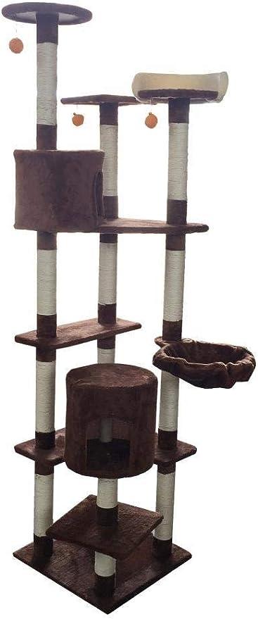 Meilandeng Árboles de Actividades para Gatos Gancho agarrador del Animal doméstico Gato Juguete Muebles Junta Gato Nido Cama casa Escalera 48 * 48 * 203 cm: Amazon.es: Hogar