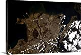 Gallery-Wrapped Canvas entitled Vancouver in the sun, from North Van to Tsawassen by Chris Hadfield 30''x20''