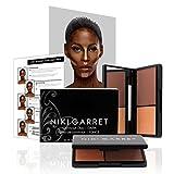 Niki Garret Matte Contour and Highlight Powder Make Up Kit (Dark) - Paraben and Cruelty Free