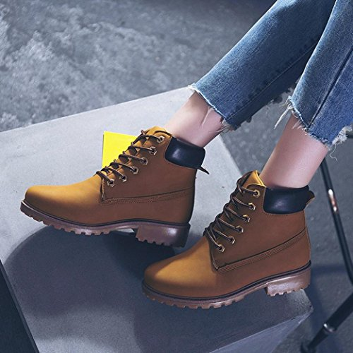 Women Outdoor Sikye Warm Ladies Winter Boots Martin Casual Yellow Keep Shoes Ankle CqwtFnq