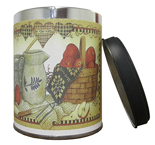 Pie Scented Glass - Our Own Candle Company Hot Apple Pie Scented Candle in 13 Ounce Tin with a Pitcher & Apples Label