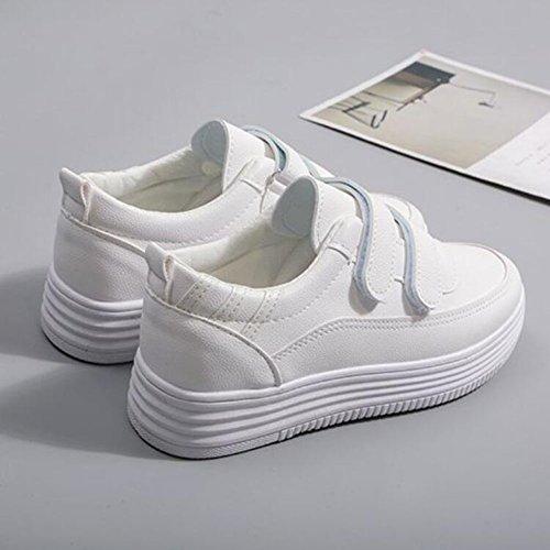 GAOLIXIA de ocasionales deporte de Blanco prenda Negro cordones de primavera al de Zapatillas Blanco mujeres las aire la con la de libre deportes de comodidad Zapatos Zapatos impermeable FnIxCnw58q