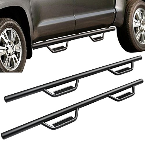 Boards Compatible for 07-18 Toyota Tundra CrewMax Cab Pickup 4-Door Trucks Side Steps Nerf Bar Trucks Armor Sliders Rails 3