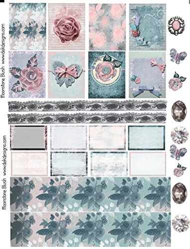Moonstone Blush, 3 full size sheets weekly planner sticker kit. Happy planner sticker sized or Erin Condren on matte sticker paper. Just peel and stick.