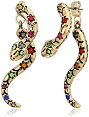 Snake Front Back Earrings