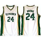 WYFB1D Men's Irving 24 ST. Patrick Basketball Jerseys No.24 White (M)