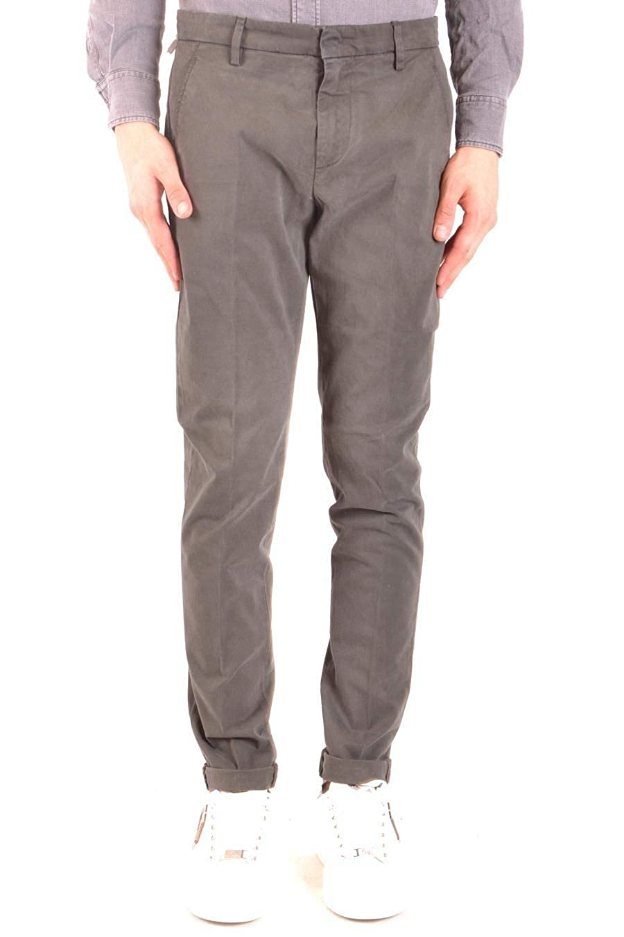 Dondup Mens UP235GS0036PTD642 Green Cotton Pants