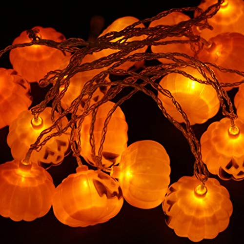 2,5 Mt Halloween Lichterketten K/ürbis Dekoration Lampen LED Fairy String Lampe Universal Gartenlampe EU US Stecker orange
