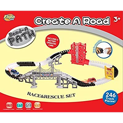 Bend A Path Race and Rescue Set (267 Pieces): Toys & Games