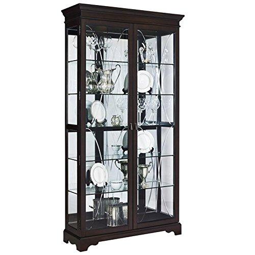Pulaski P021579 Sable Collection Two Door Curio Display Cabinet, 44'' x 15'' x 81.5'', Poplar Brown by Pulaski