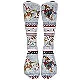 XIdan-die Casual Athletic Socks Snowman Christmas Snowman Stripe Over-The-Calf Socks For Women Men
