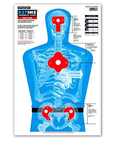 B27-IMZ Human Silhouette Paper Shooting Targets (12.5