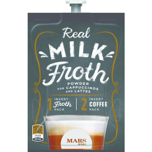 Real Milk Froth Powder Freshpacks for MARS DRINKS FLAVIA Brewers, 18 Packets by Mars Drinks