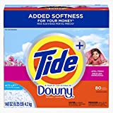 Tide Ultra Plus A Touch Of Downy April Fresh Scent Powder Laundry Detergent, 80 Loads, 148 oz