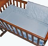 American Baby Company Teddy Bear Terry 3-Piece Cradle Bedding Set (Blue)