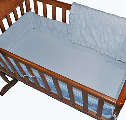 y Teddy Bear Terry 3-Piece Cradle Bedding Set (Blue) (Soft Teddy Bear Terry)