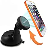 Car Mount, AEDILYS Magnetic Dashboard/Windshield Car Mount Holder for iPhone 6 (4.7)/ iPhone 6 Plus (5.5)/ 5s/ 5c/, Samsung Galaxy S6/S6 Edge/S5/S4 Note 4/3, Google Nexus 6/5/4