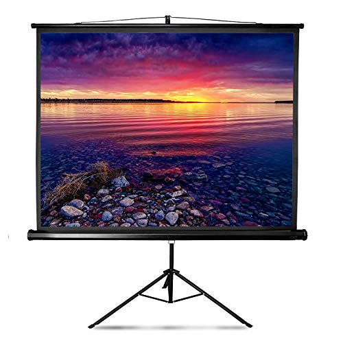 Projector Screen with Stand LYH Indoor Outdoor Projection Screen 100 Inch 4:3 HD for Movie Office Presentation Premium Wrinkle-Free Design Portable Tripod (Easy to Clean, 1.1 Gain, 160° Viewing Angle)