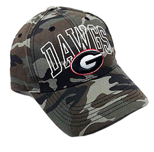 NCAA Wide Out Grey Camo Adjustable Hat (University of Georgia - Bulldogs)