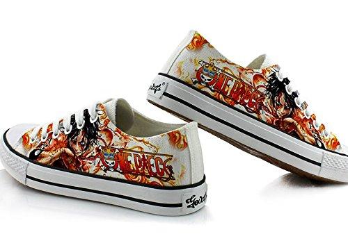 Un Pezzo Portgas D Asso Scarpe Cosplay Scarpe Sneakers Colorate Low Cut 2 Foto 1