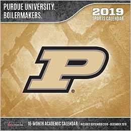 Purdue Calendar 2019 Purdue Boilermakers 2019 calendario: Lang Holdings Inc